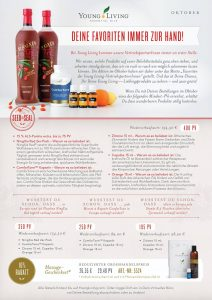 Young Living Oktober Aktion und Angebot