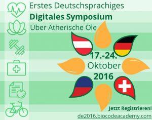 BioCode Academy - deutschsprachige online Symposium über ätherische Öle